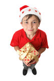 Christmas gift time stock image