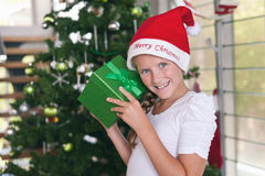 Christmas gift time Stock Photos