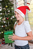 Christmas gift time Royalty Free Stock Images