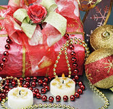 Christmas gift to the holiday royalty free stock image