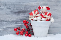 Christmas. Gift, toy and decoration Royalty Free Stock Image