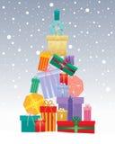 Christmas gift tree Stock Photography