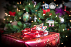 Christmas Gift under tree Royalty Free Stock Photo