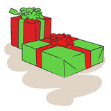 Christmas gift vector Royalty Free Stock Images