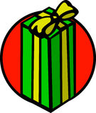 Christmas gift vector illustration Royalty Free Stock Photo