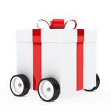 Christmas gift vehicle Royalty Free Stock Image