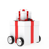 Christmas gift vehicle Stock Image