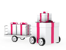 Christmas gift vehicle Royalty Free Stock Images