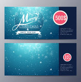Christmas Gift voucher template with colorful modern style Stock Photos