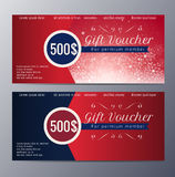Christmas Gift voucher template with colorful modern style Stock Image