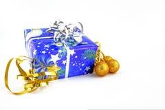 Christmas gift. On white background Stock Image