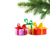 Christmas gift wrapped presents Royalty Free Stock Photo