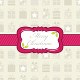Christmas gift wrapping Stock Image