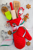 Christmas gift wrapping idea Royalty Free Stock Photography