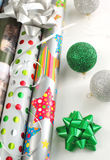 Christmas gift wrapping papers Royalty Free Stock Photos
