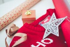 Christmas gift wrapping Stock Photos