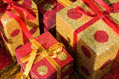 Christmas giftboxes Royalty Free Stock Photography