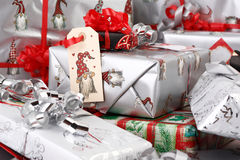 Christmas gifts. A lot of christmas gifts Royalty Free Stock Photography