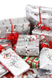Christmas gifts. A lot of christmas gifts Royalty Free Stock Image
