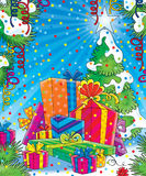 Christmas gifts stock illustration