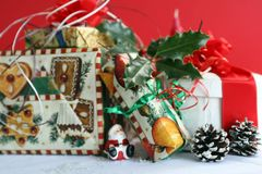 Christmas Gifts!. A shot of differant christmas gifts royalty free stock photo