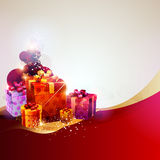 Christmas gifts. Christmas Design. Christmas gifts red color Royalty Free Stock Image