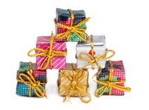 Christmas Gifts. Gift isolated on white background stock images