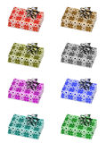 Christmas gifts. In eight different colors royalty free illustration