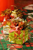 Christmas gifts. Two little xmas gifts with typical decorations Stock Images