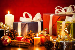 Christmas Gifts. Photograph of some christmas gifts and decorations Stock Images
