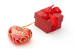 Christmas gifts. Isolation on white Royalty Free Stock Photography
