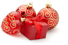 Christmas gifts. Isolation on white Royalty Free Stock Photo