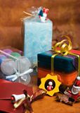 Christmas gifts. And decorations stock image