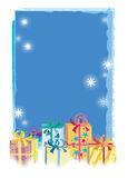 Christmas gifts. Coloured boxes stock illustration
