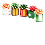 Christmas gifts. Isolated on white background Royalty Free Stock Photos