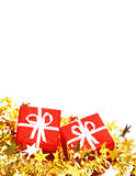 Christmas gifts. Isolated on white background Royalty Free Stock Image