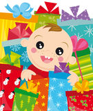 Christmas gifts vector illustration