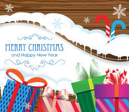 Christmas Gifts And Candy Canes Royalty Free Stock Photography