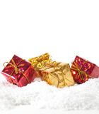 Christmas gifts background Royalty Free Stock Photos