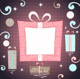 Christmas gifts background Stock Photography