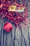 Christmas gifts with balls Stock Photos