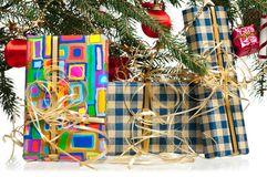 Christmas gifts Stock Photography