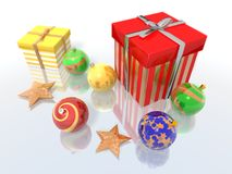 Christmas gifts and baubles Royalty Free Stock Image
