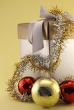 Christmas gifts and baubles Royalty Free Stock Photography
