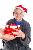 Christmas gifts for a beautiful grandmother Stock Images