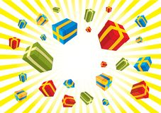 Christmas gifts box Stock Photo