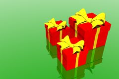 Christmas gifts box Royalty Free Stock Photos