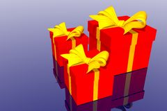 Christmas gifts box Stock Images