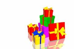 Christmas gifts box Royalty Free Stock Photo