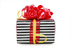 Christmas gifts box isolated Stock Photos